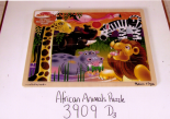African Animal Puzzle 3909